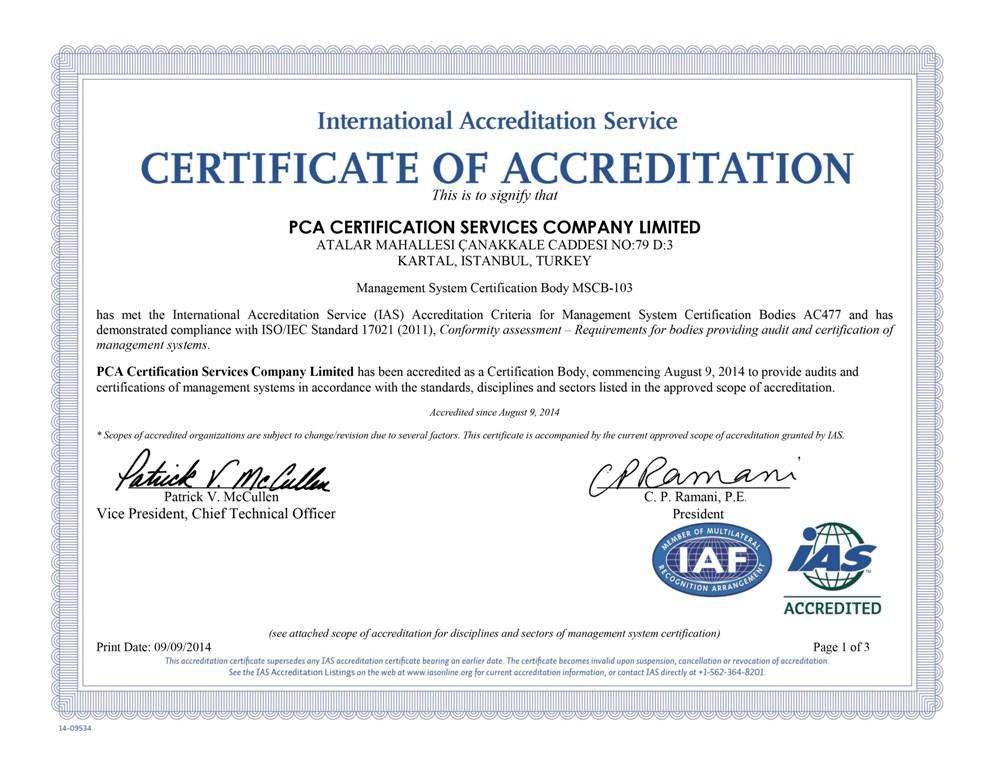 Pca Certificate - Best Design Sertificate 2018